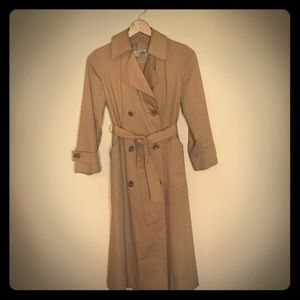 Aquascutum Double Breasted Trench Coat w/ Liner S